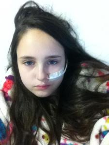 Daisy in hospital recently